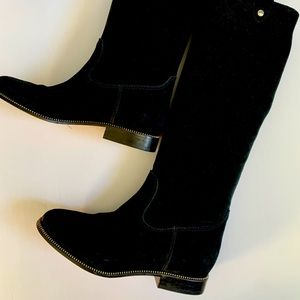 Michael Kors black suede tall boots size 7US
